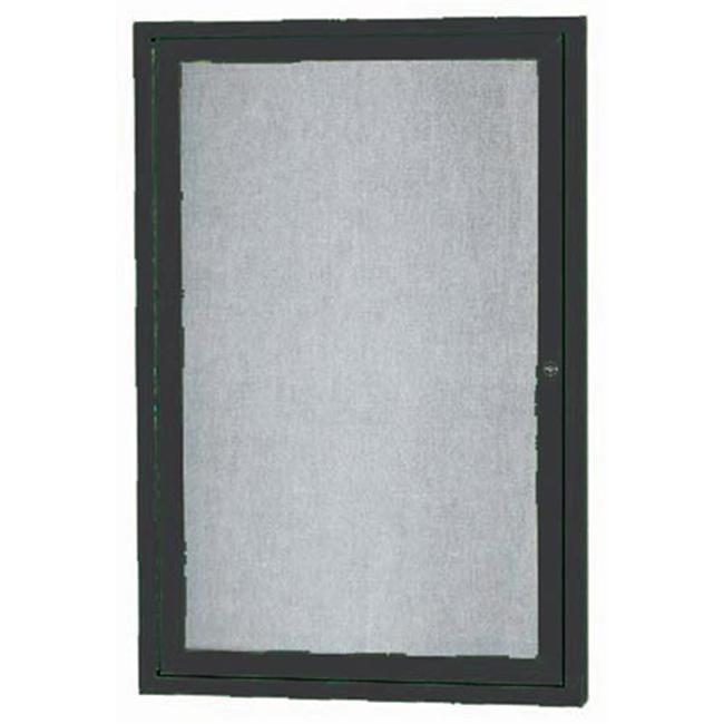 Aarco Products ODCC2418RIBK 1-Door Illuminated Outdoor Enclosed Bulletin Board - Black