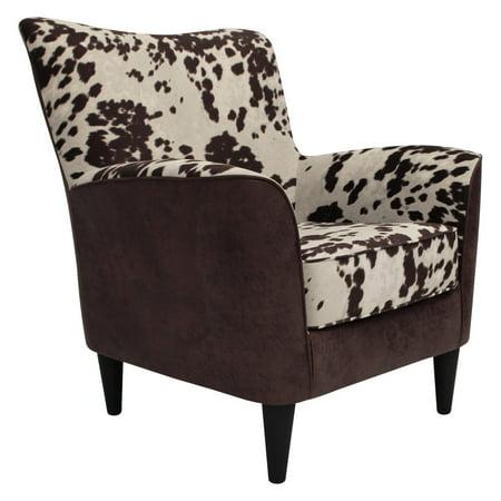 Sensational Fox Hill Rex Cow Print Lounge Chair Theyellowbook Wood Chair Design Ideas Theyellowbookinfo