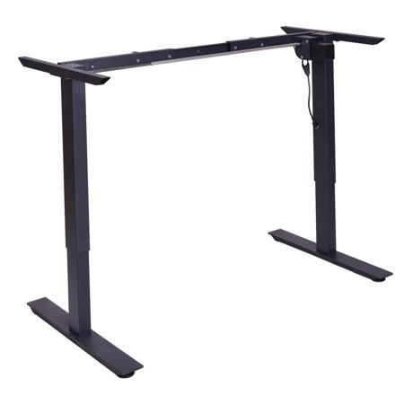Astonishing Gymax Black Electric Stand Up Desk Frame W Single Motor Height Adjustable Standing Base Download Free Architecture Designs Licukmadebymaigaardcom