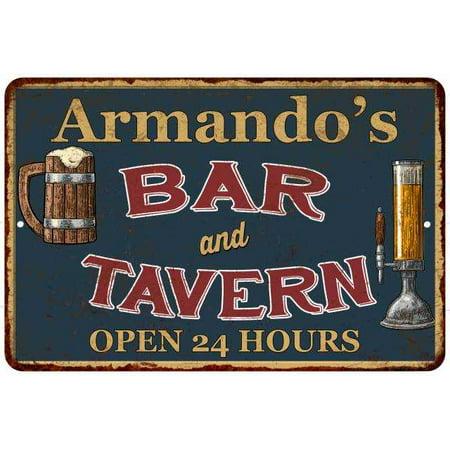 Armando's Green Bar & Tavern Personalized Rustic Sign Decor 8x12 208120047751 ()