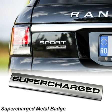 Xotic Tech 1 Piece 3D Metal SUPERCHARGED Emblem Trunk Lid Dash Sticker Fender Badge For Rang (Shelby Dash Emblem)