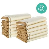 Creative Scents Cotton Cream Fingertip Towel Set of 12