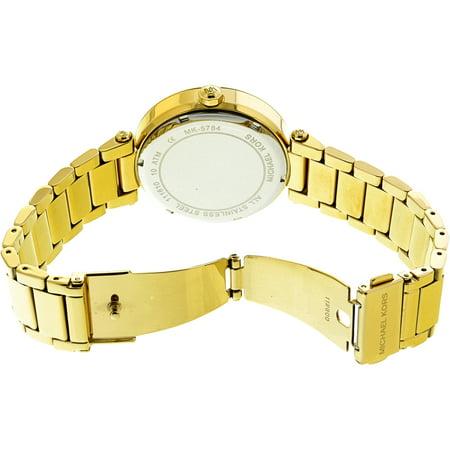 Best Michael Kors Parker Logo Glitz Gold-Tone Women