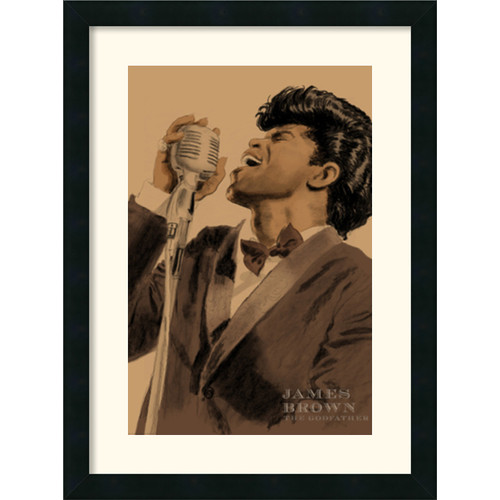 Amanti Art 'James Brown' by Clifford Faust Framed Painting Print