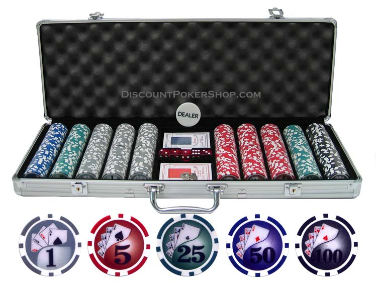 Click here to buy 13.5g 500 piece Yin Yang Clay Poker Chip Set.