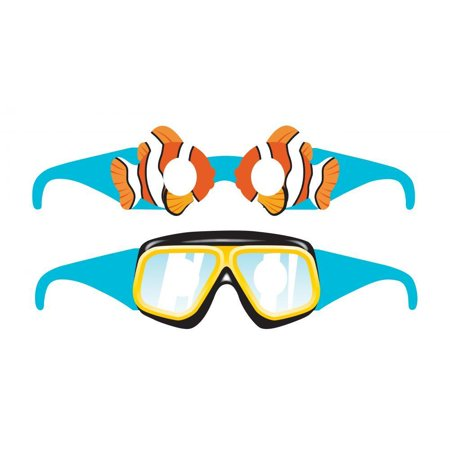 Creative Converting Ocean Party Paper Glasses Favor, 6 ct - Ocean Party Supplies