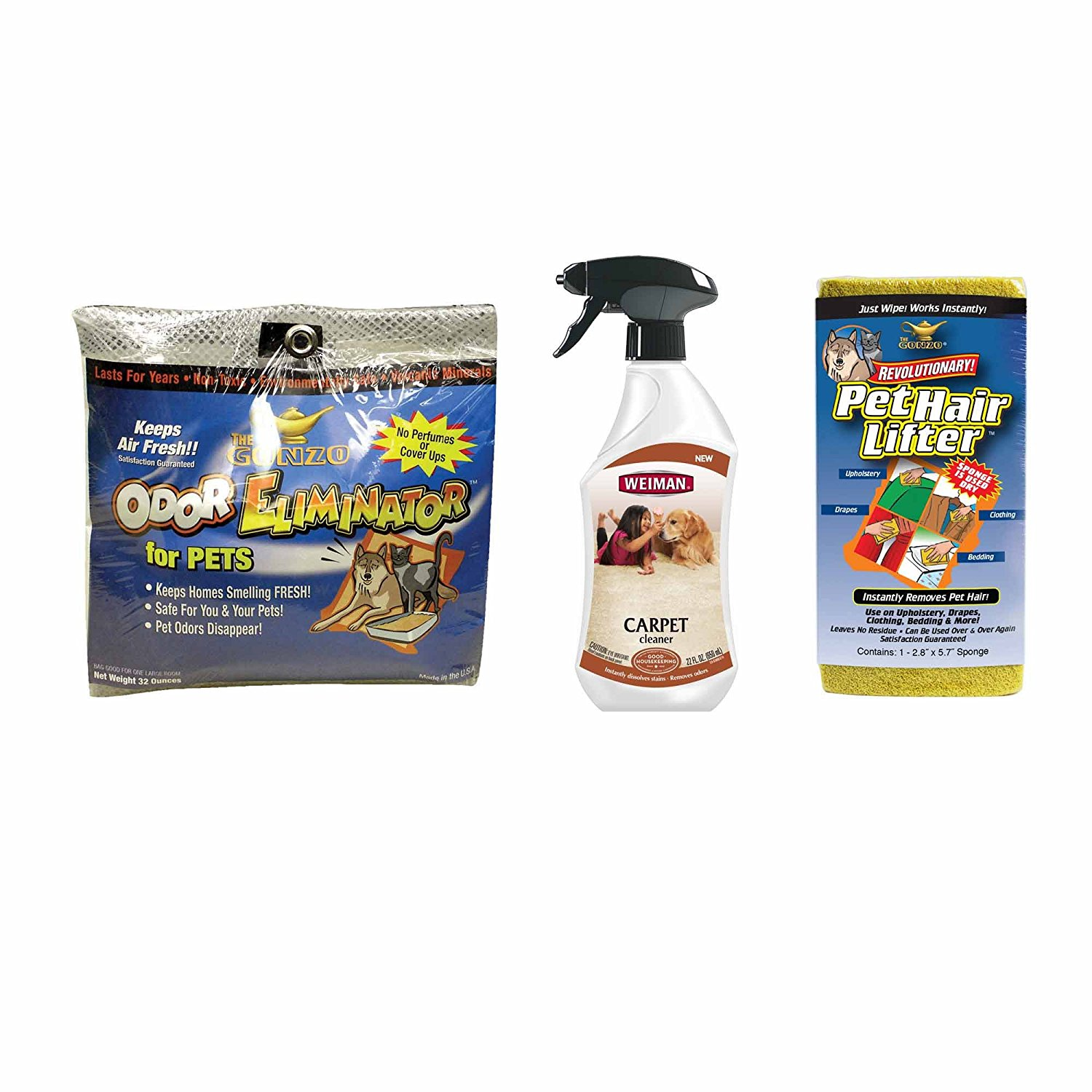 and Weiman Pet Stain Removers, All natural, odorless, non...