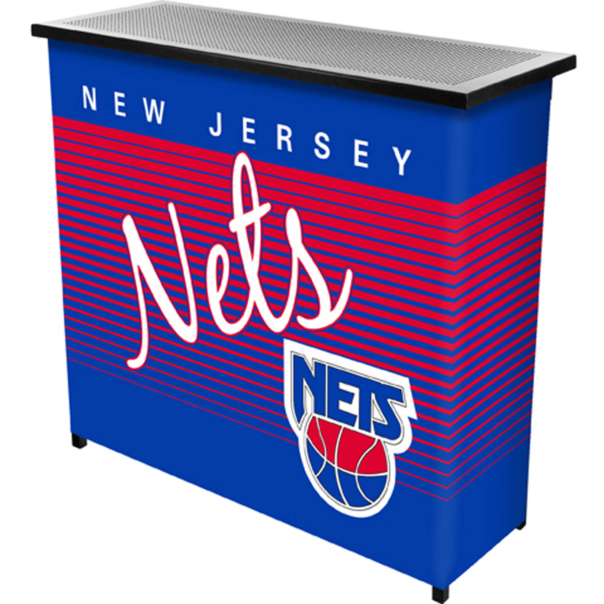 New Jersey Nets Hardwood Classics NBA Portable Bar with Carrying Case