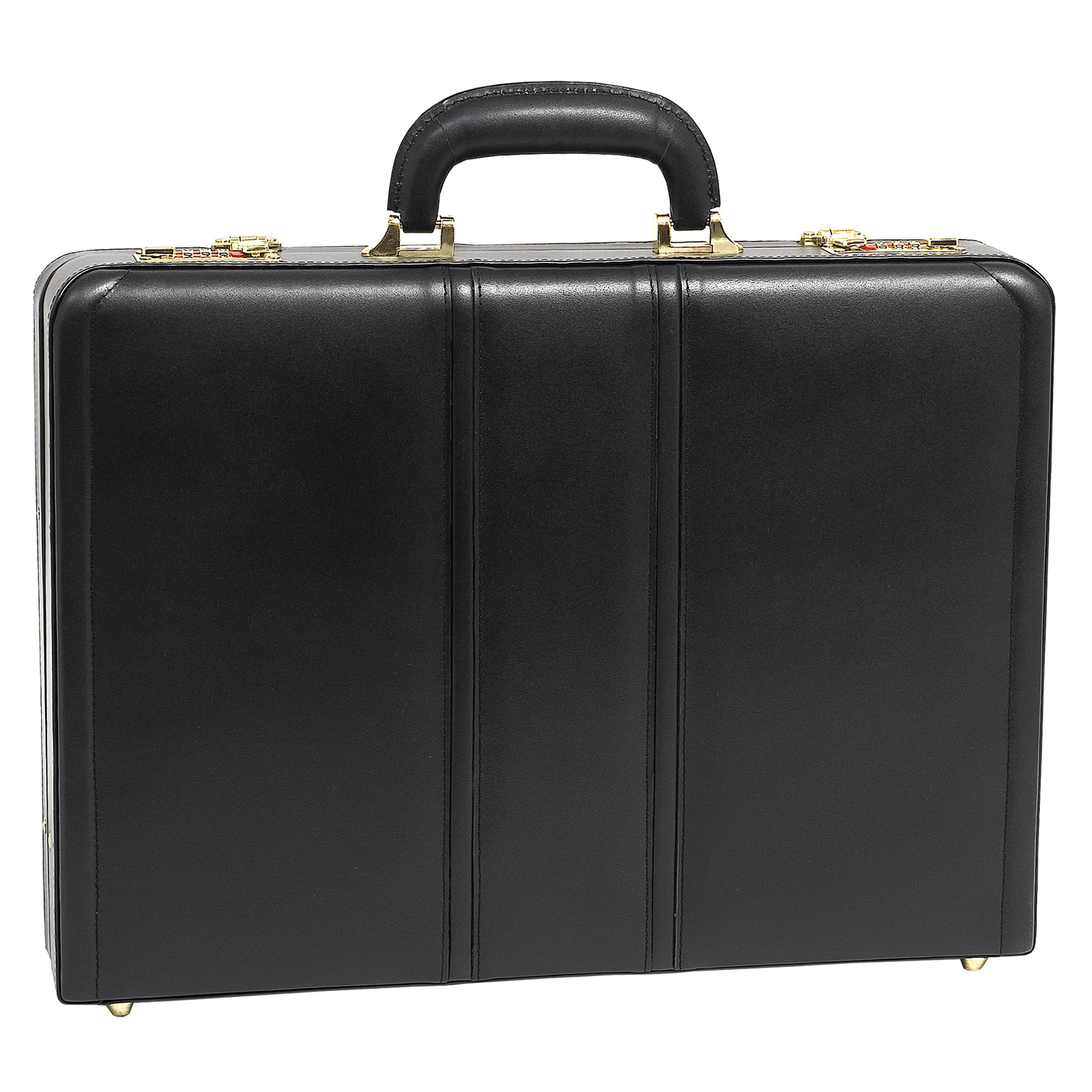 McKlein USA Coughlin Leather Expandable Attache Case