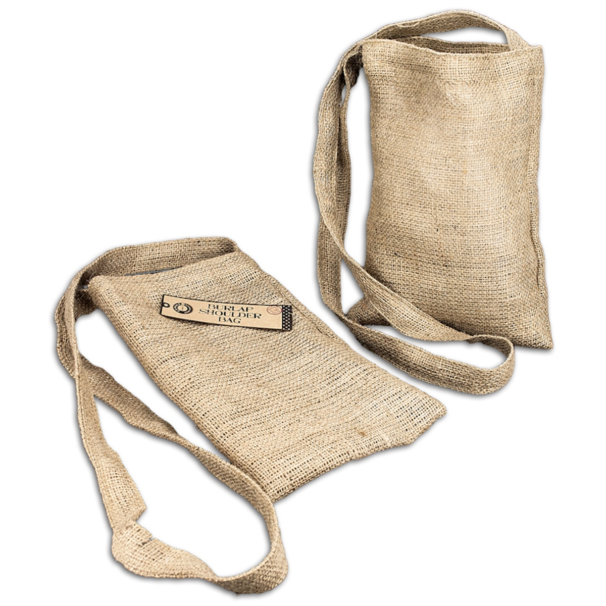 Canvas Corp CVS3327 Burlap Medium Shoulder Bag 8.5''X13''-Natural - image 2 of 2