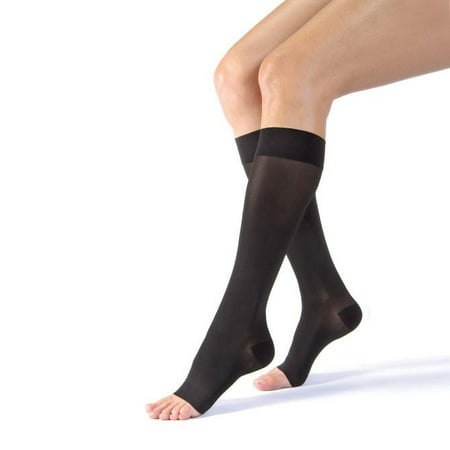 02187b85d9f Ultrasheer 30-40mmHg Open Toe Knee-High Extra Firm Compression  Stockings-Natural