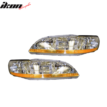 Honda Accord Rh Headlamp Light (Fits 01-02 Honda Accord RH LH Headlights)