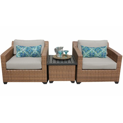 Sol 72 Outdoor Waterbury 3 Piece Conversation Set with Cushions