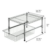 Honey Can Do Adjustable Shelf with Under Cabinet Organizer, Chrome
