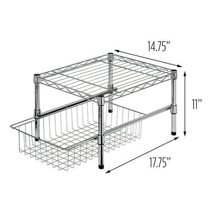 Expanding Shelf Organizer (Honey Can Do Adjustable Shelf with Under Cabinet Organizer,)