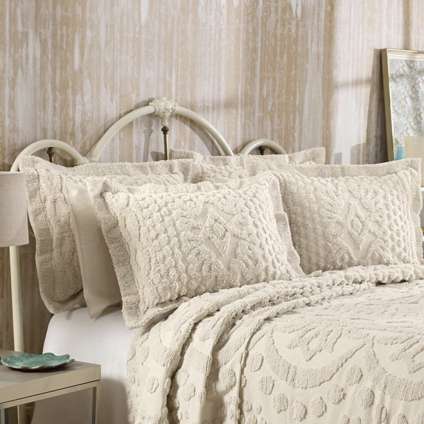 Kingston Tufted Chenille Bedspread And, Chenille Bedding Queen