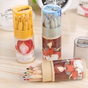 Mini Colored Cute Pencils Wooden Writing Painting Pencils For Kids School Supplies
