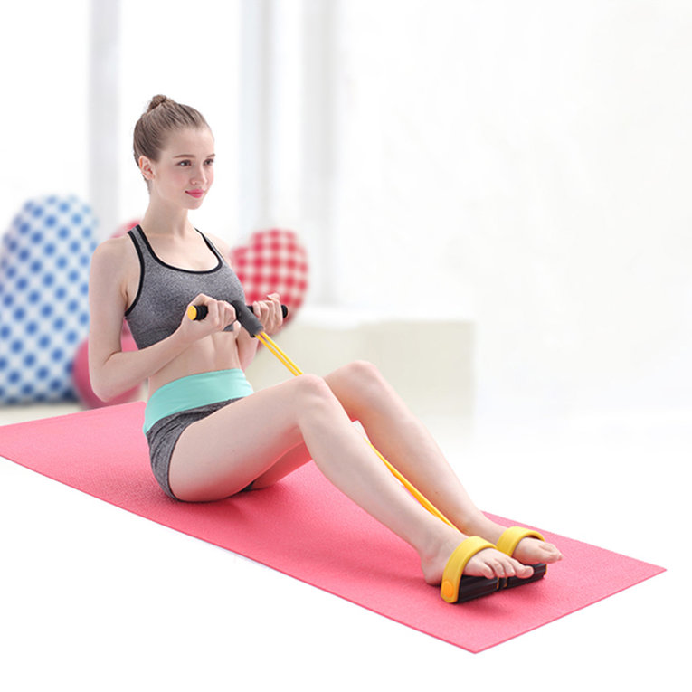 Resistance Band Rope Tube Elastic Exercise Equipment for Yoga Pilates Workout