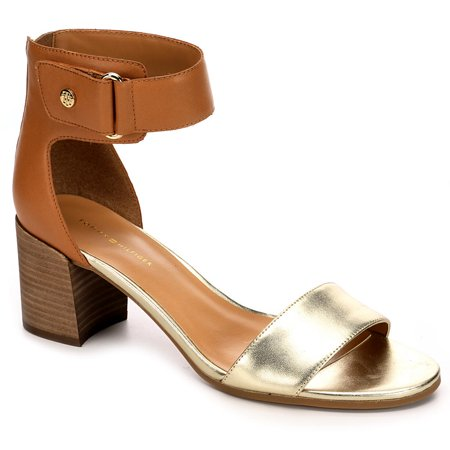 789b1b2313f Not branded - Tommy Hilfiger Womens Charlot Stacked Heel Sandal (Dark  Natural Leather