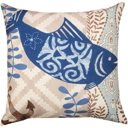 Pair of Barrier Reef Fish Design 18 Inch Indoor / Outdoor Throw Pillows - Walmart.com