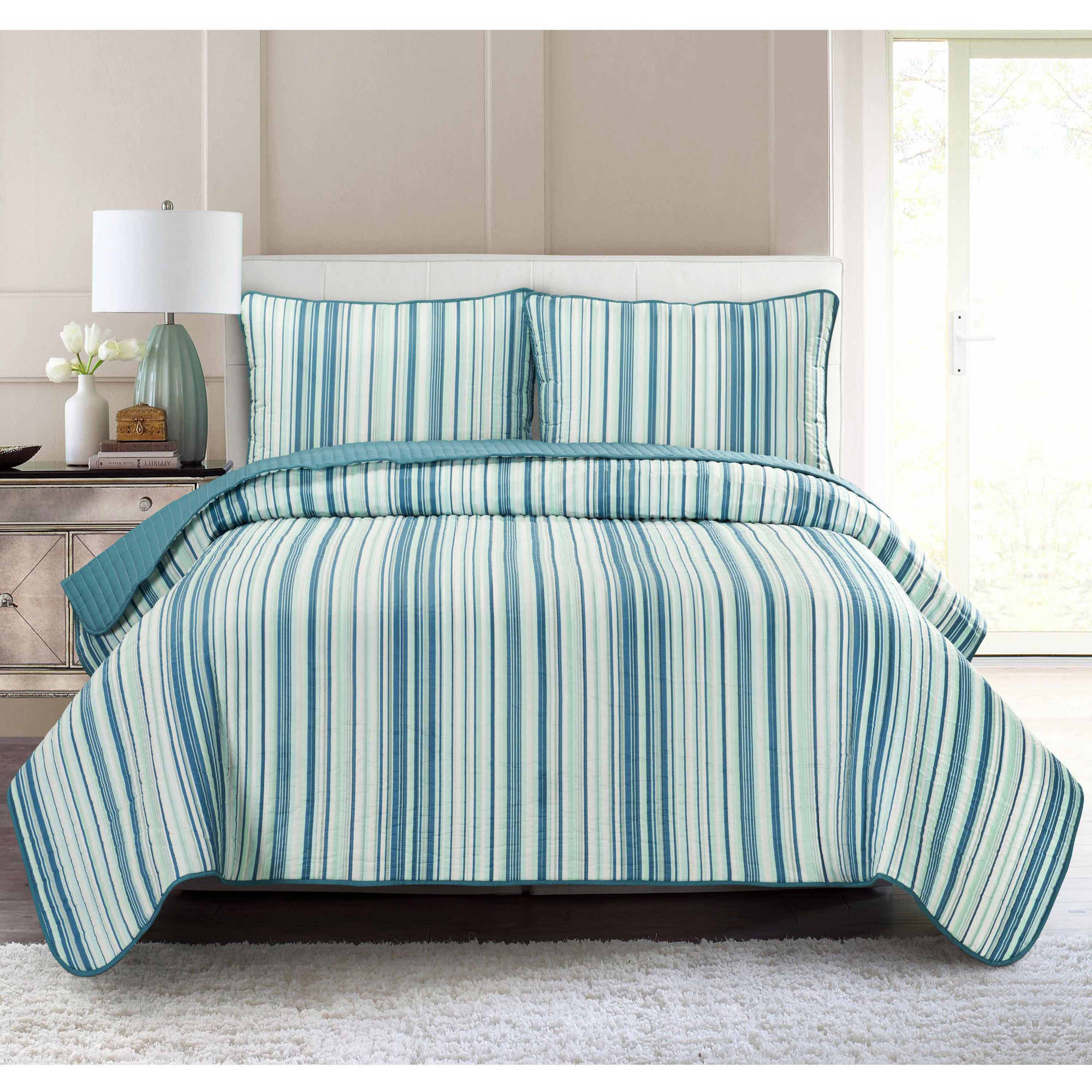 South Bay Stripe Quilt Set by Generic