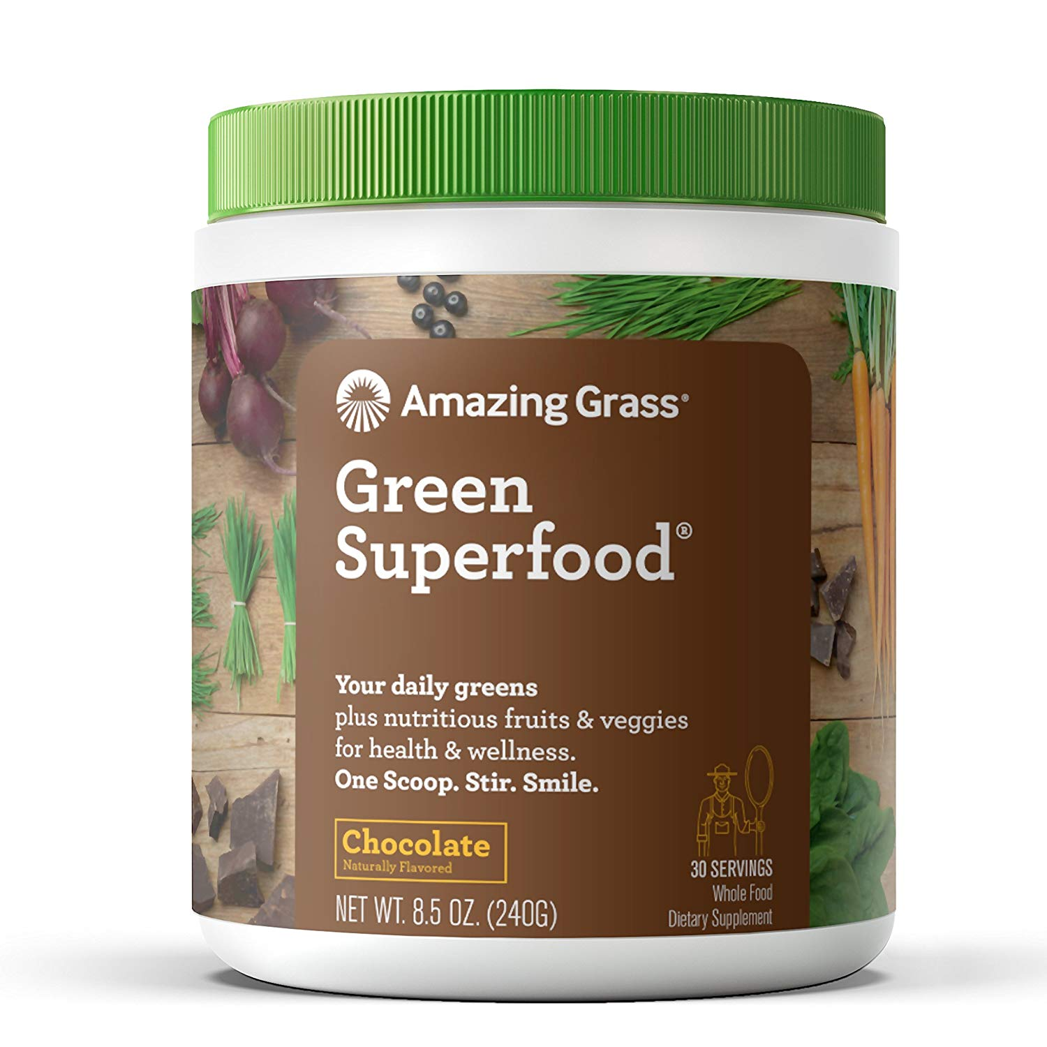 Amazing Grass Green Superfood Powder, Chocolate, 30 Servings