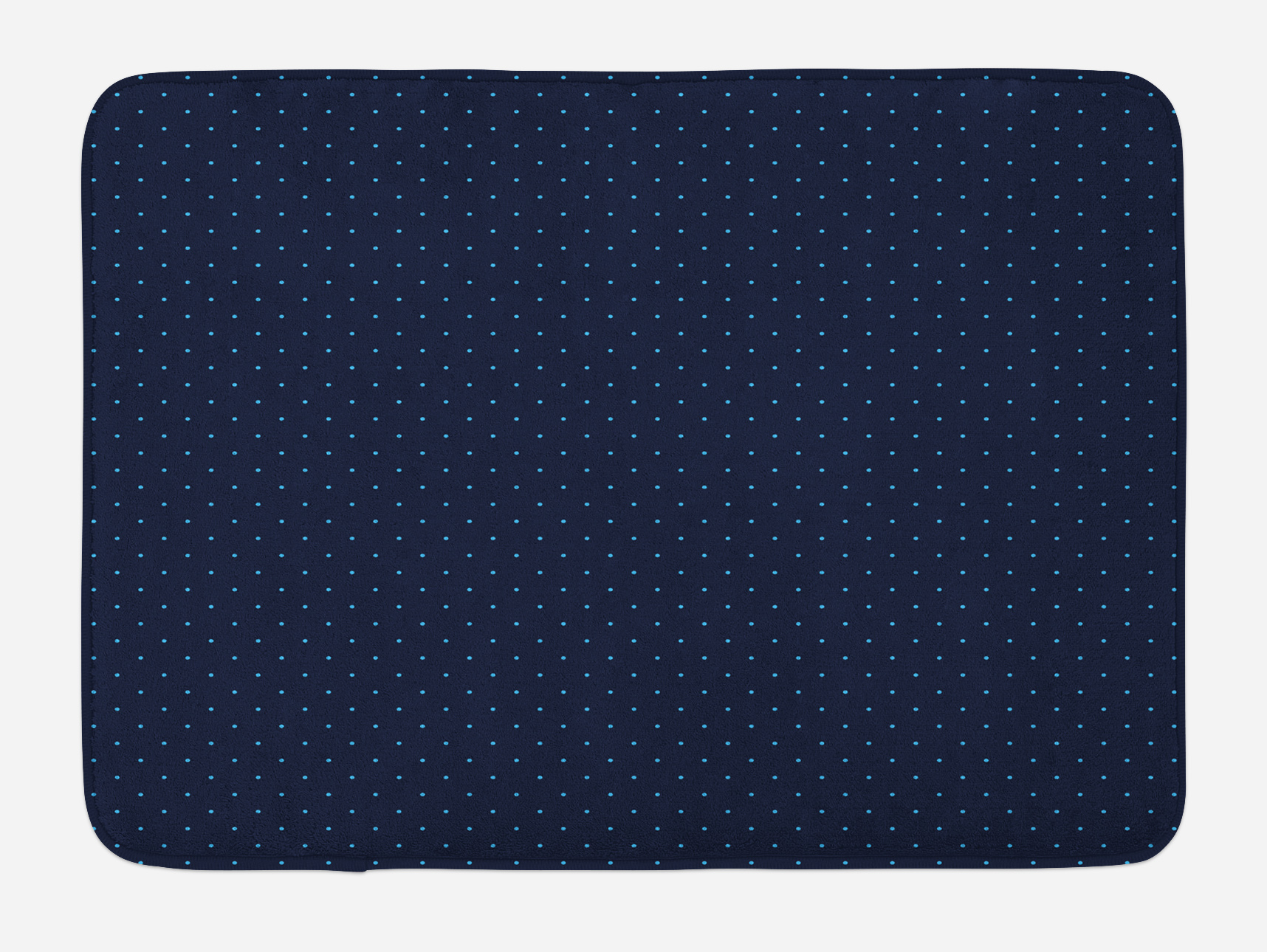 Dark Blue Bath Mat Simple Small Color Dots On Dark Blue