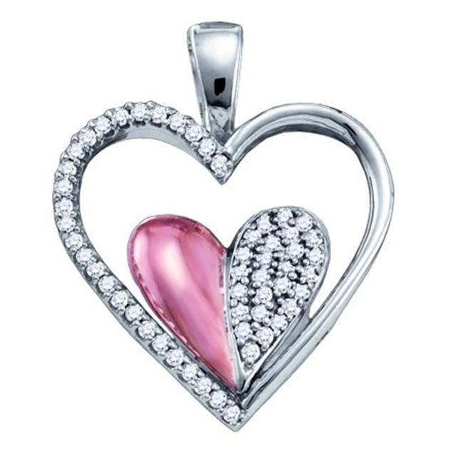 Gold and Diamonds PH2922-W 0. 20CT-DIA MICRO-PAVE HEART PENDANT- Size 7