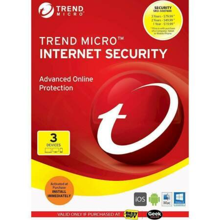 Trend Micro Internet Security For 3 Devices
