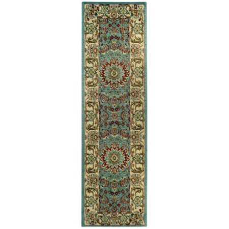Rugnur Pasha Collection Medallion Traditional Ocean Blue Runner Rug  27 X 10