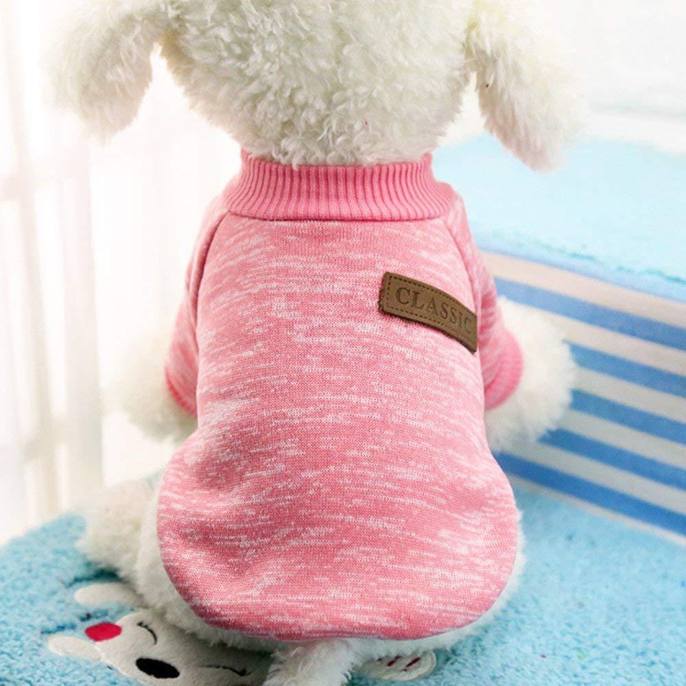 Sunshinellc Pet Dog Classic Knitwear Sweater Fleece Coat For Small