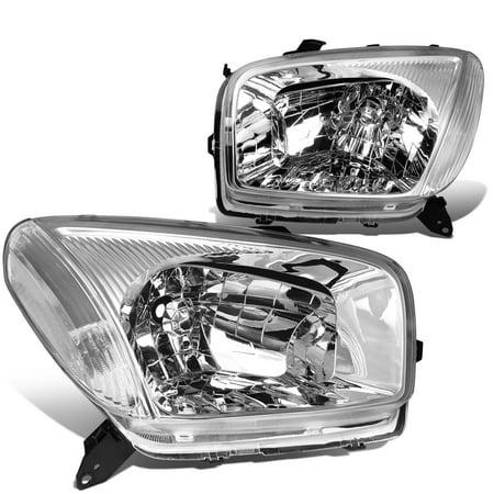 For 2001 to 2003 toyota RAV4 Headlight Chrome Housing Clear Corner Headlamp 02 XA20 2nd Gen Left+Right