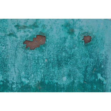 Peel-n-Stick Poster of Weathered Rusted Sheet Corrosion Turquoise Metal Poster 24x16 Adhesive Sticker Poster Print
