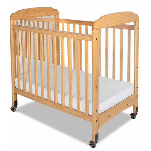 Foundations Serenity Portable Mini Crib with Mattress Natural