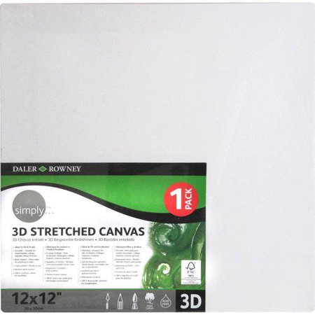 Simply 3D Stretched Canvas Available In Multiple Sizes