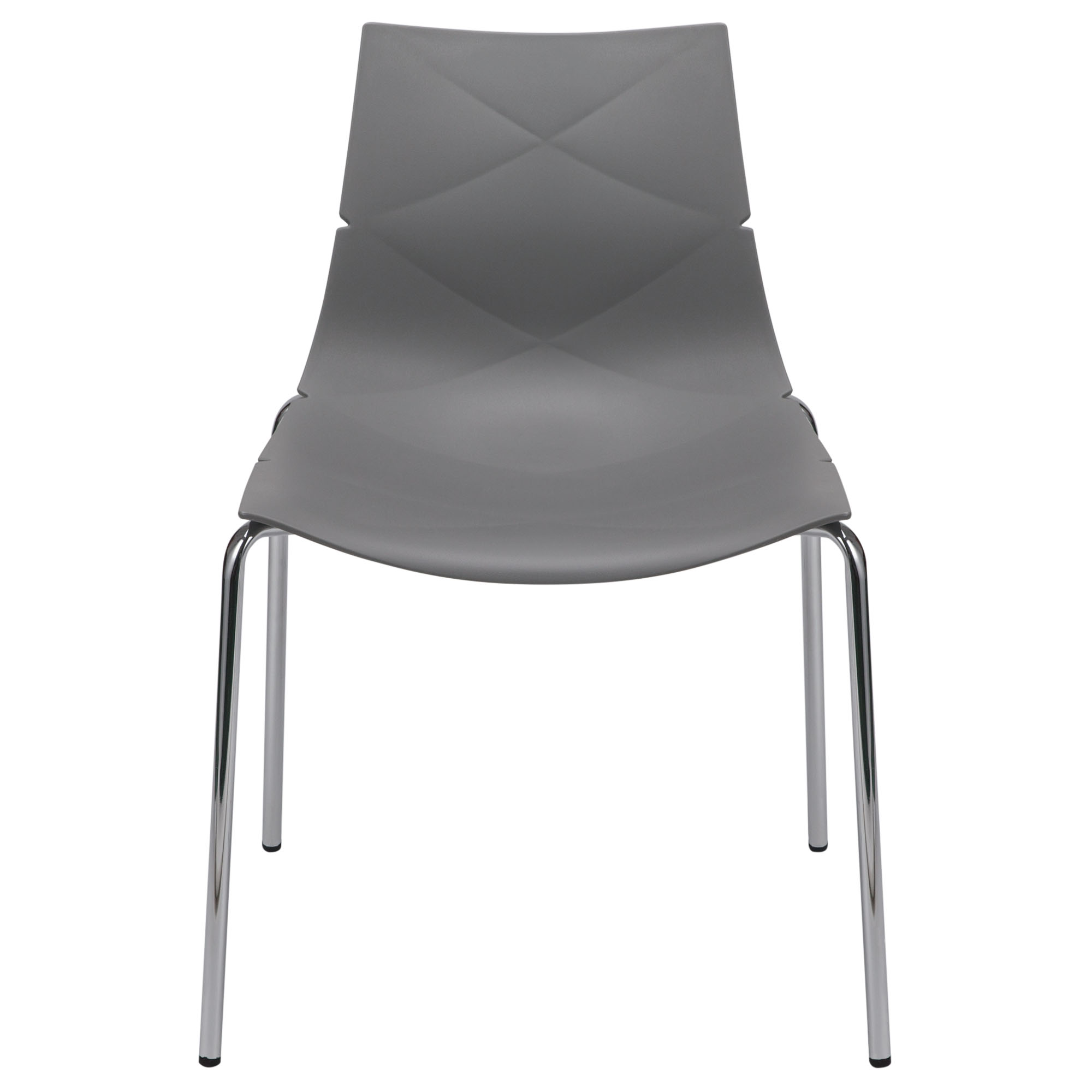 Geo 4-Pack Indoor/Outdoor Accent Chairs in Grey Polypropylene (PP) by Diamond