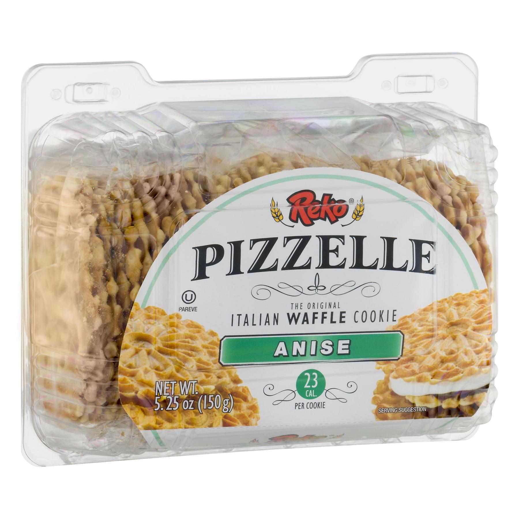 Reko Pizzelle Pizzelle Italian Cookies Anise 5.25oz - Walmart.com