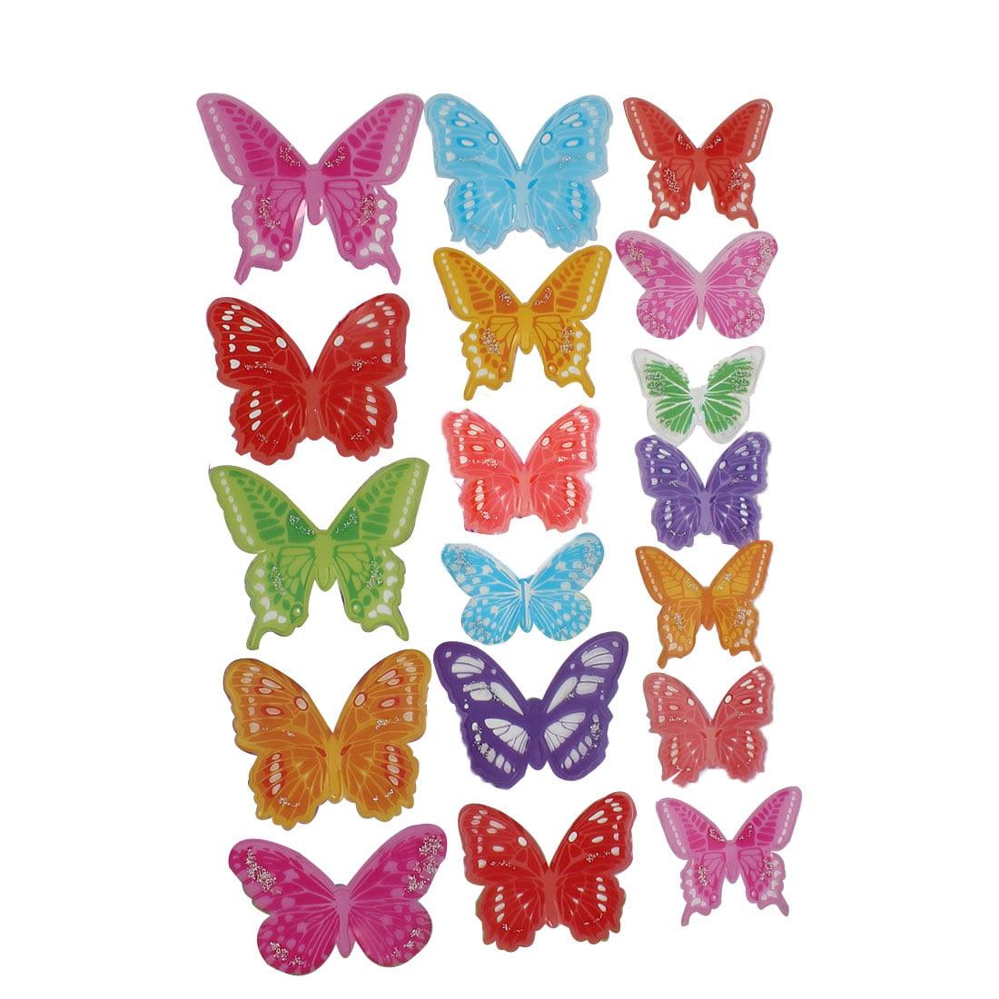 Butterfly Design DIY Bedroom Decal Wall Decor Sticker Multicolor
