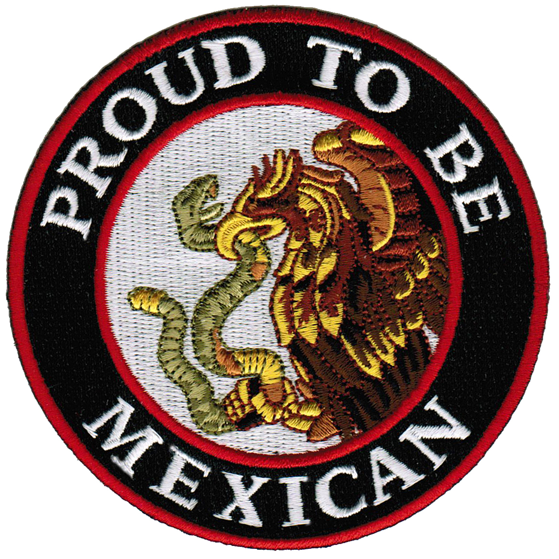 Proud To Be Mexican Iron-On Embroidered Biker Patch