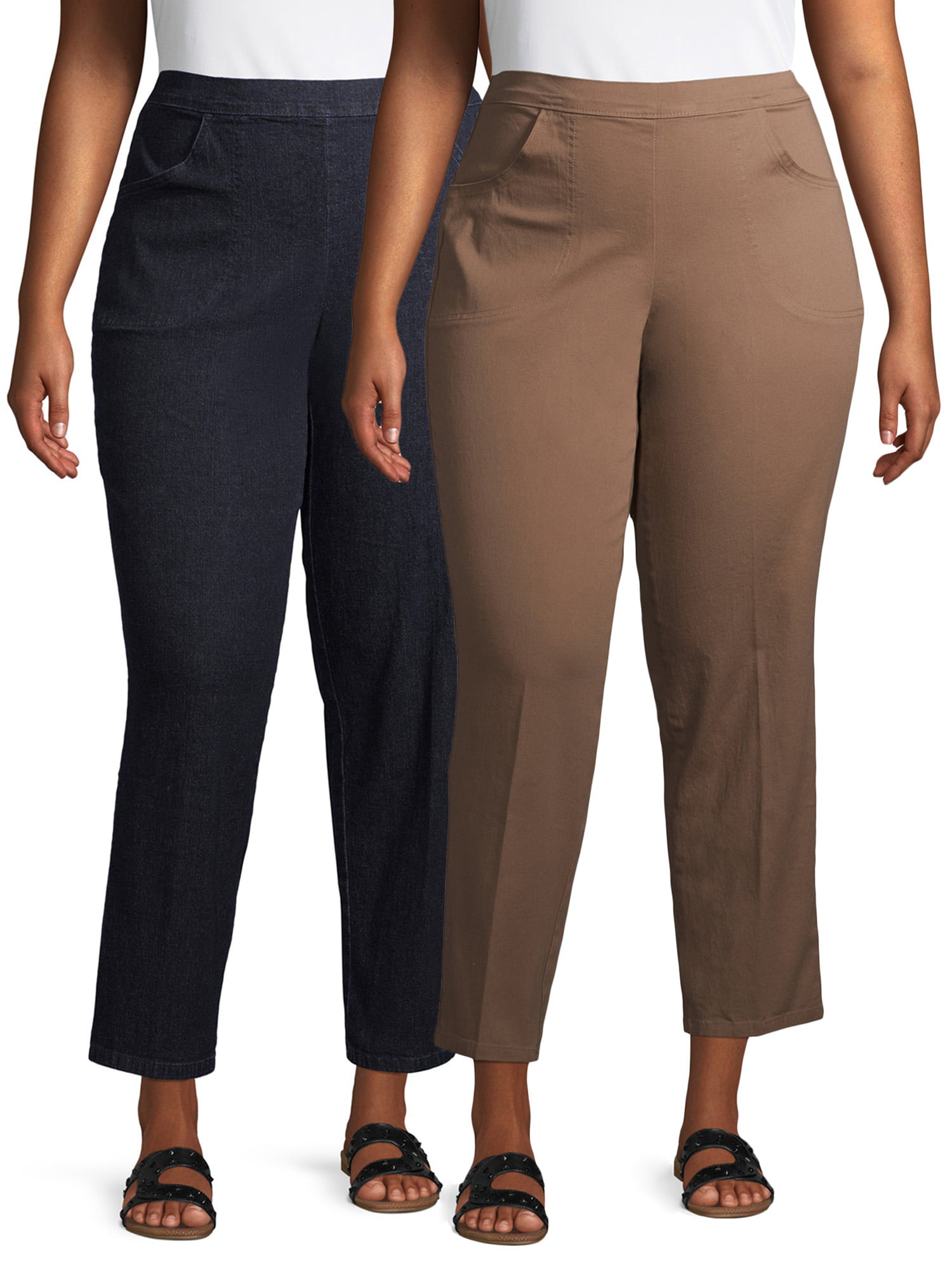 WOMENS LADIES PULL ON BOOTLEG RIBBED SLIM FIT TROUSERS SMART WORK TAPERED PANTS