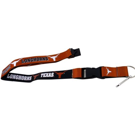 NCAA Texas Longhorns Team Logo Reversible Lanyard Keychain