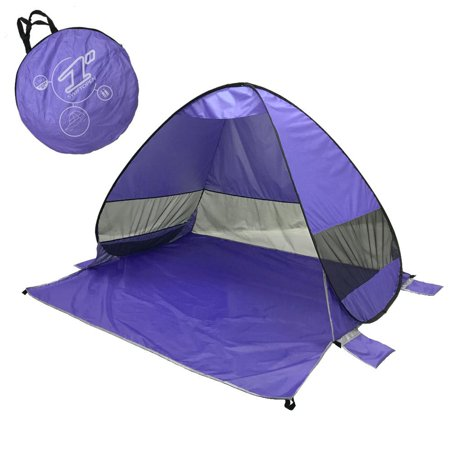 Elegantoss Portable Camping Tent Automatic Pop Up Tent UV Resistant (UV50+) Sun Shade Picnicking Fishing Hiking Canopy Easy Setup Outdoor Cabana Tents with Carry Bag (Small 2P, Purple) ()
