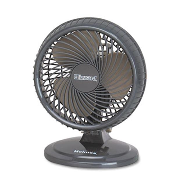 Holmes Products HAOF87BLZNUC Lil Blizzard 7 inch Two-Speed Oscillating Personal Table Fan, Plastic - Black