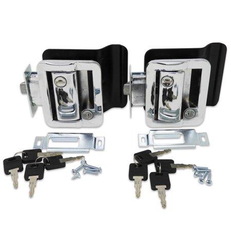 2 Pack Chrome RV Entry Door Lock w / deadbolt Camper Travel