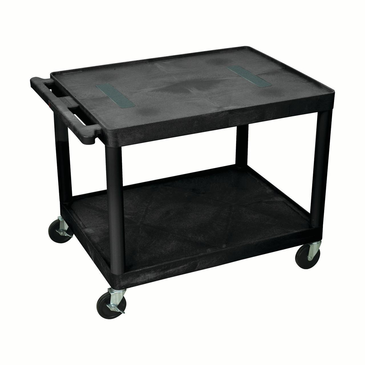 Offex Endura A/V Cart 2 Shelves Black