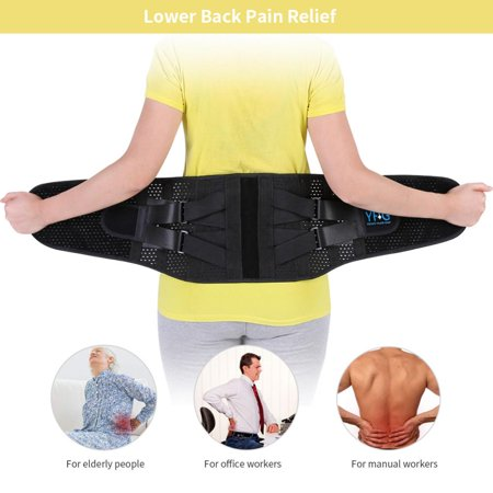 Dilwe Adjustable Lumbar Support Belt Lower Back Brace Posture Corrector Waist Wrap for Sciatica Back Pain Relief Postpartum Abdomen Shaping for Heavy Lifting, Workout, Fitness, Women and (Best Back Brace For Heavy Lifting)