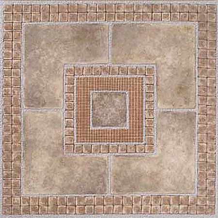 home dynamix madison vinyl tile area rugs 7815 brown stone geometric mosaic rug 12 x 12. Black Bedroom Furniture Sets. Home Design Ideas