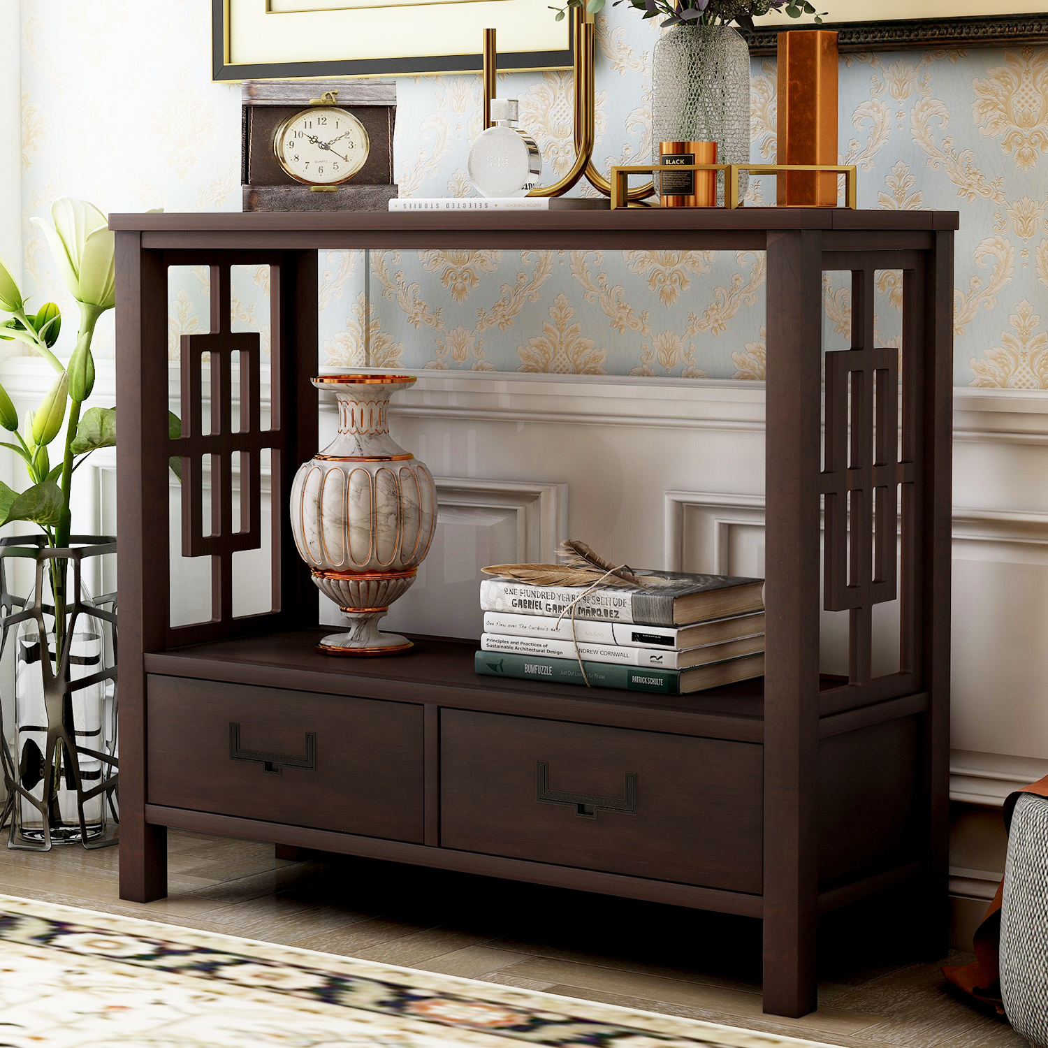 Buffet Sideboard Console Sofa Table with Drawers ...