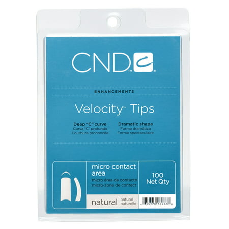 CND Creative Nail Design Nail Tips Velocity NATURAL Size 0-10 100ct/Tray - Halloween Nail Design Tutorials
