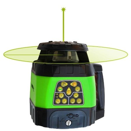 Electronic Self-Leveling Horizontal & Vertical Rotary Laser Kit with GreenBrite Technology Electronic Self Leveling Single